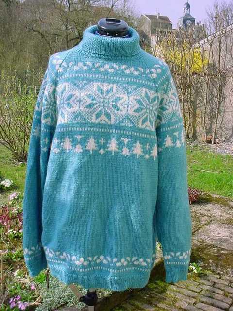 Vintage alice starmore tricot scandinave